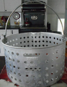 TURKEY FRYER BASKET SEAFOOD COOKER BASKET WITH HANDLES