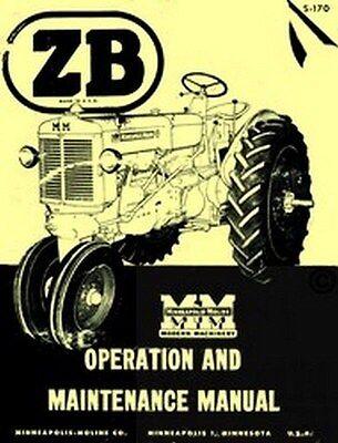 Minneapolis Moline Z Zb Zbu Zbe Zbn Operators Manual