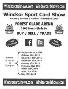Windsor Sports Card Show Forest Glade Arena March 19th 9:30-2 Windsor Region Ontario image 1