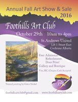 Foothills Art Club Show and Sale in Cochrane