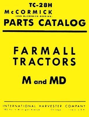 International Harvester Farmall M Mv Md Mdv Tractor Parts Catalog Manual Ih
