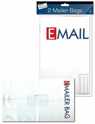 2 E Mailer White Mail Postal Bags Large High Quality Mailing Polybag 594 X 420mm