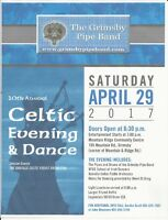 10th Annual Celtic Evening and Dance by the Grimsby Pipe Band
