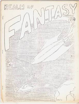 "REALM OF FANTASY #6 - 1961 science fiction fanzine - ""A Night With Robert Bloch"""