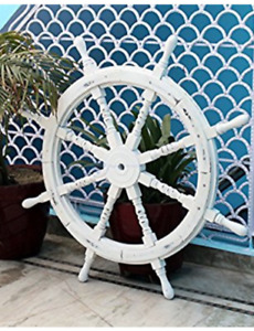 Nautical Handcrafted Wooden Ship Wheel
