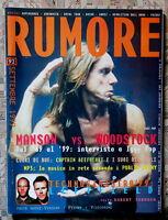 Rumore Italy Magazine 1999 Iggy Pop Supergrass Unida Manson Gomez Raro -  - ebay.it