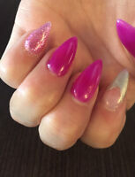 Pose d'ongles , nails