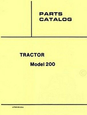 Allis Chalmers 200 Tractor Parts Catalog Manual Ac