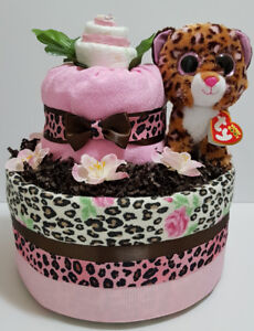 Leopard Patches diaper cake