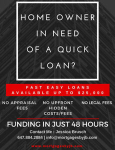 Fast and Easy Loans up to $25,000 - Funding in 48 hours!