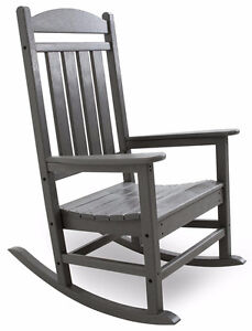 POLY-WOOD R100GY Presidential Rocker, Slate Grey Cambridge Kitchener Area image 2