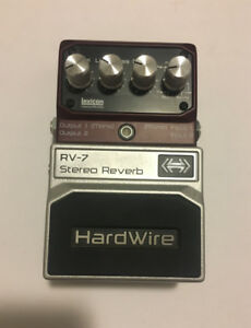 Digitech RV-7 Hardwire Stereo Reverb Guitar Effects Pedal
