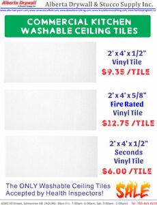 4'x'2' Washable Vinyl Ceiling Tile