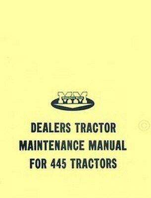 Minneapolis Moline 445 Tractor Dealer Maintenance Service Manual