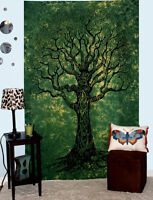 Indian Hippy tapestry Green tree of life wall hanging Hippie