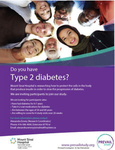 Mount Sinai Hospital Type 2 Diabetes Research Study