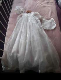 Girls christening gown 0-9 months