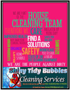Shiny Tidy Bubbles Cleaning Services 24/7!