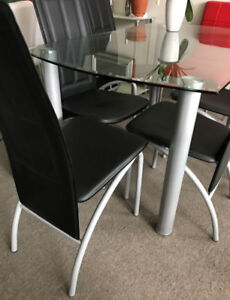 Table only,Kitchen 5pc SET,Dining Set-1table+4 chairs/extr cost