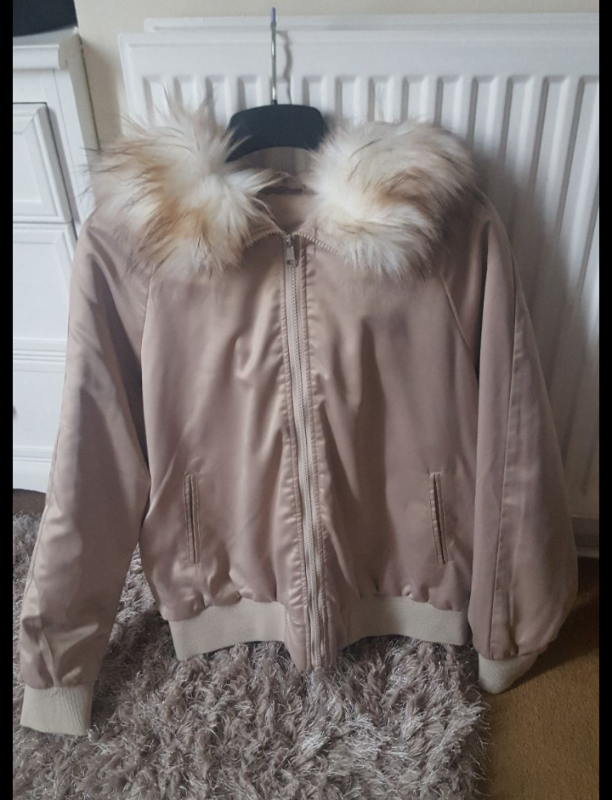 GORGEOUS FLORENCE & FredTesco cream faux fur coat size 14