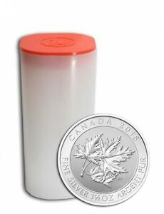 22.5 oz 2015 Canadian Maple Leaf (Tube) $8 Silver Coin 9999
