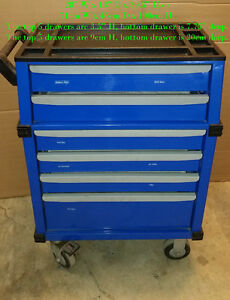 "28"" wide 6 drawer rolling tool cabinet"