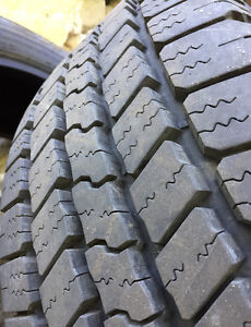 265/60/20 E rated Goodyear SR-A Tires.
