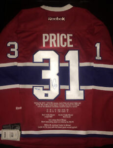 AUTOGRAPHED HOCKEY JERSEY'S FOR SALE