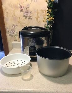 10 Cup Rice Cooker Wolfgang Puck Stainless Steel & Steamer