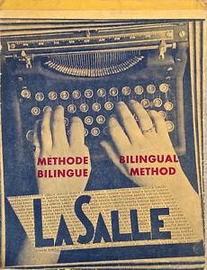 Antiquité 1952. Méthode de dactylographie bilingue LaSalle