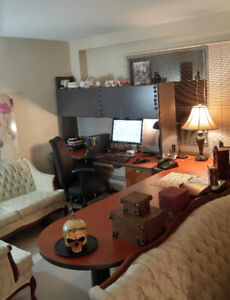 Executive Desk - L Shaped - Hutch - 9 ft.  by  9 ft.