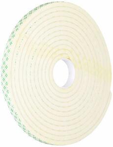 TAPECASE 1/2-5-4004W 4004 0.5IN X 5YD WHITE FOAM TAPE