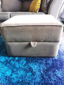 Fabric Pouffe/Footstool