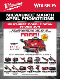 Milwaukee – Wolseley Distributor - ONE DAY SALE ONLY!