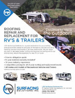 RV/Modular/Trailer Roof Repair and/or Reroofing