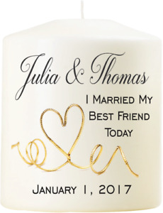Personalized Wedding Candle Favours