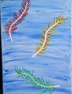 SALE - Abstract Feather Painting Peterborough Peterborough Area image 2