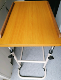 MOBILITY AID Over Bed ADJUSTABLE TABLE - GOOD HEIGHT(S)