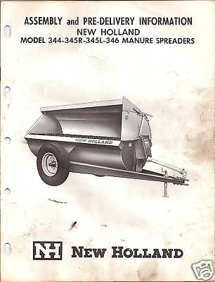 New Holland 344-345r-345l-346 Manure Speaders Manual
