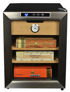 NewAir CC-100 Thermoelectric Cigar Humidor, Stainless Steel NEW