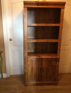 Bookcase with cupboards