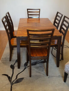 Modern + Rustic Style Dining Set