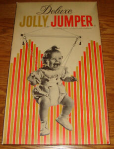 VINTAGE ANTIQUE JOLLY JUMPER BOX TOP COVER *ONLY*