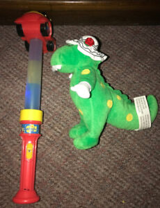 The Wiggles Plush Dorothy Dinosaur $10 Glow Flashing Wand $20