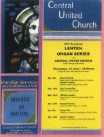 Downtown Sarnia Noon-Hour Lenten Organ Series