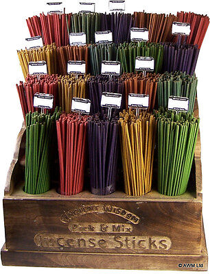 100 COLOURED INCENSE STICKS - 5 MIXED SCENTS - UK SELLER - FREE UK P&P