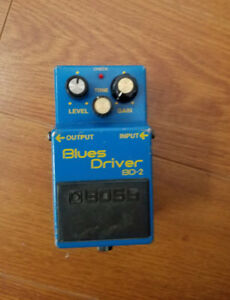 BOSS BD-2 BLUES DRIVER GUITAR EFFECTS PEDAL-VERY GOOD CONDITION