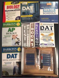 DAT preparation books (Schaum's, ADEA, Barrons, Carving tools..)