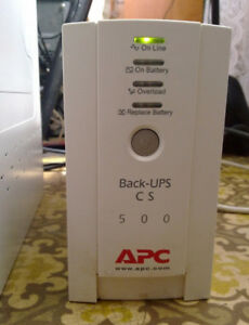 APC Back-UPS CS 500 Battery Backup