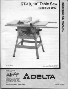 Delta Table Saw and Blades